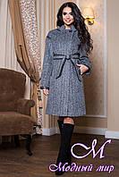 Женское серое демисезонное пальто (р. 44-60) арт. 811 Dracena/50 Тон 13