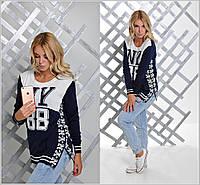 "Молодежный женский свитер ""NY 88"" b-904340"