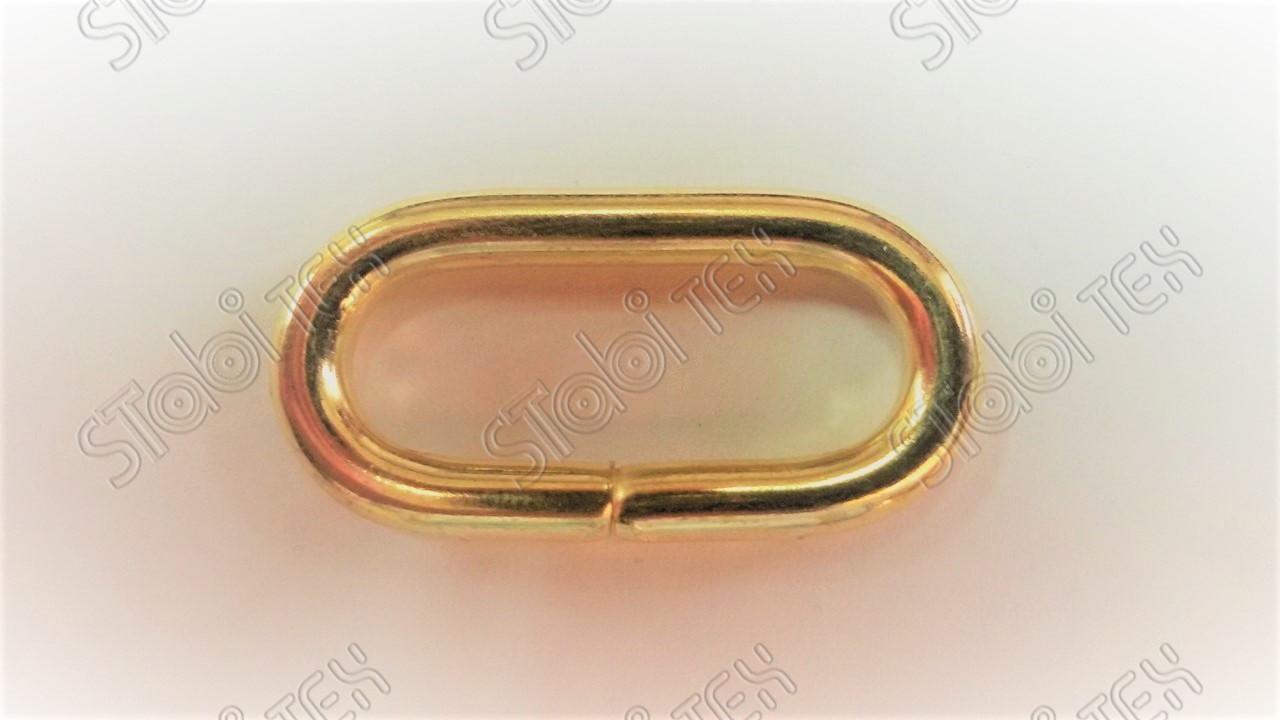 Рамка овал 25х9х3,9мм (никель и золото)