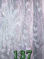 Тюль из кристалона вышитая