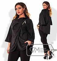 Модное женское пончо большого размера x-2025820