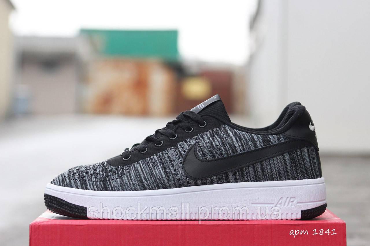 738eb33e Летние кроссовки Nike Air Force серые на белой подошве Вьетнам реплика -  Интернет магазин ShockMall в