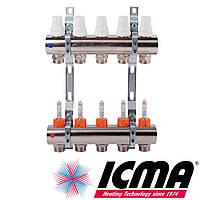 "Коллектор 1"" на 3 выхода с расходомерами Icma арт. K013"