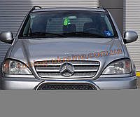 Защита переднего бампера кенгурятник из нержавейки на Mercedes ML W163 1997-2005