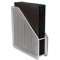 Лоток для бумаг вертикальный, металлический 1 отделение, цвет серебро