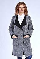 Стильный женский кардиган с карманами серого цвета