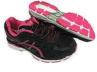 Кроссовки женские Asics черно-розовые