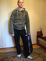 Куртка мужская с капющоном, хлопок Хаки, L
