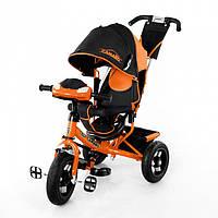 Детский трехколесный велосипед TILLY Trike Camaro с надувными колесами и музыкальной панелью