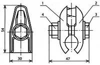 Зажим струновой уменьшенный - КС-046-1