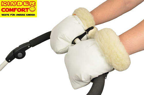 Муфта-трансформер для коляски и санок (Белый), Kinder Comfort