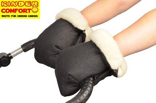 Муфта-трансформер для коляски и санок (Черный джинс), Kinder Comfort