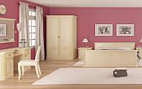 Спальня Флоренция четырех, шести дверный шкаф, прикроватные тумбы, комод, зеркало,кровать без матраса