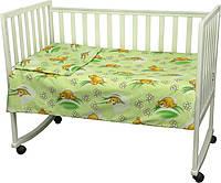 Детский комплект постельного белья для кроватки бязь 60Х120  сладкий сон  (932.02)