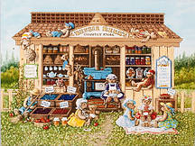 Схема для вышивания бисером Дом медведей