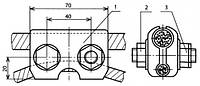 Зажим средней анкеровки и эластичной струны для несущего троса - КС-048