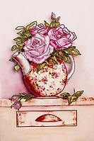 Схема для вышивания бисером Розовый букет