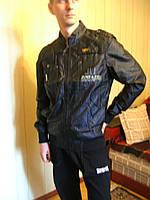 Куртка мужская, ветровка, тонкая черный, M