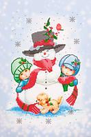 Схема для вышивания бисером Снеговик