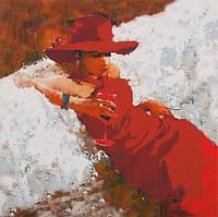 Схема для вышивания бисером Lady in Red