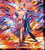 Набор для вышивания бисером на художественном холсте В ритме танго