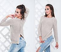 Женский вязаный свитер у-034386