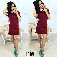 Женское платье с коротким рукавом в разных расцветках w-031911