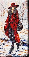 Набор для вышивания бисером на художественном холсте Элис