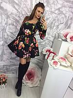 Женское платье в красивом цветочном принте r-58031913