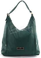 Стильная наплечная прочная вместительная женская сумка интересного цвета art. 9624 зеленая