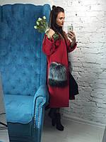 Кашемировое женское пальто р-580295
