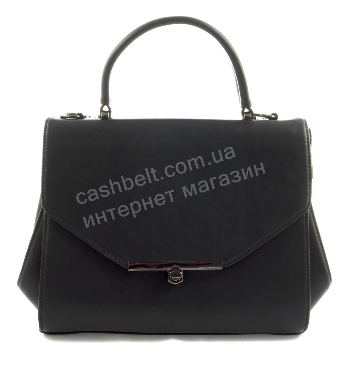 Стильная каркасная оригинальная женская сумка саквояж среднего размера art.  A 230 черная 9473fe53542