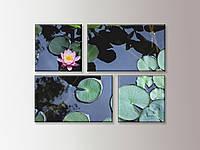 """""""Водяная лилия"""" модульная интерьерная картина, фото 1"""