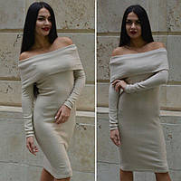 Женское платье с открытыми плечами a-031952