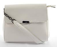 Компактная стильная кожаная женская оригинальная сумка  art. 841 Турция белая