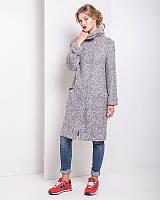 Качественное зимнее пальто из итальянской шерсти (серый цвет) r-alb0297