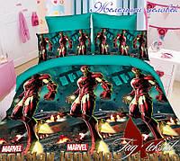 Комплект постельного белья полуторный ТМ Таg Железный человек