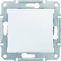 Выключатель одноклавишный проходной Schneider-Electric Sedna SDN0400121 белый