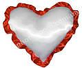 Наволочка в форме «Сердце» для сублимации, с красной каймой