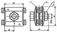 Зажим соединительный одноболтовой - КС-054-1-1 (КС-334)