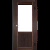 Дверь PALERMO  PL-02. Со стеклом сатин (орех,дуб беленый,дуб грей).  KORFAD (КОРФАД)