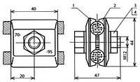 Зажим соединительный одноболтовой - КС-054-1-2 (КС-335)