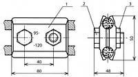 Зажим соединительный - КС-055-1