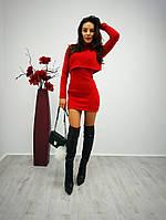 Женское приталенное платье-двойка z-56032024