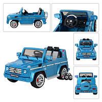 Детский электромобиль джип Mercedes G55RS-4 AMG Лицензия,голубой