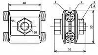Зажим соединительный одноболтовой - КС-055-1-1 (КС-336)