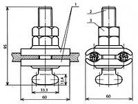 Держатель проводов опорного изолятора - КС-057-1