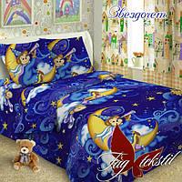 Комплект постельного белья полуторный ТМ Таg Звездочет