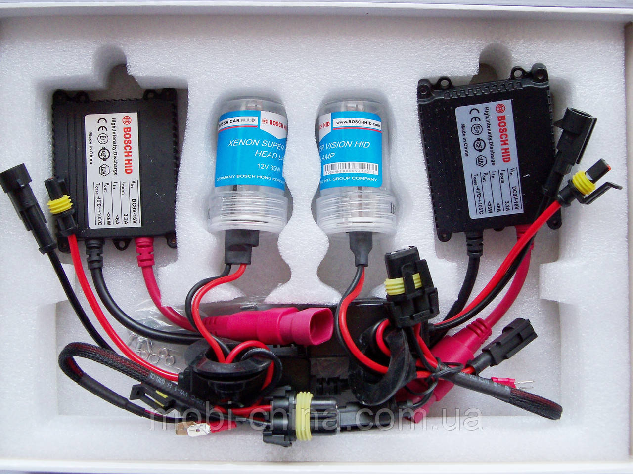 HID XENON H3 (bosch) 5000K/12V/35W - комплект ксеноновых ламп для автомобиля