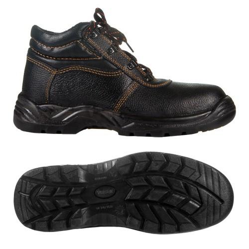 Ботинки юфть/кирза СМ рабочие демисезон с мет.подноском ПУ (литая) подошва черные
